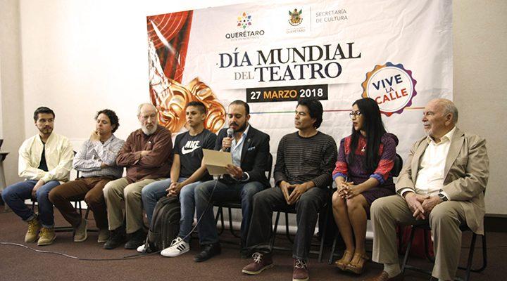 Celebrarán el Día Mundial de Teatro en Querétaro