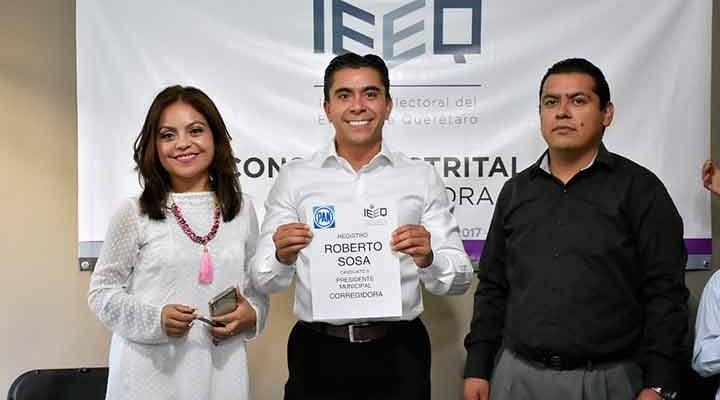 Registra Roberto Sosa su candidatura a la presidencia municipal de Corregidora