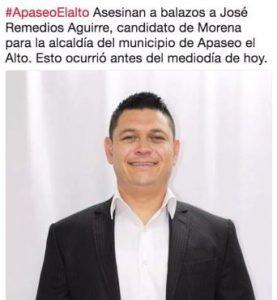 Asesinan a candidato a alcalde de Morena en Apaseo el Alto