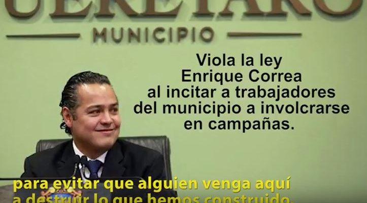 Alcalde de Querétaro incita a trabajadores municipales a participar en campañas